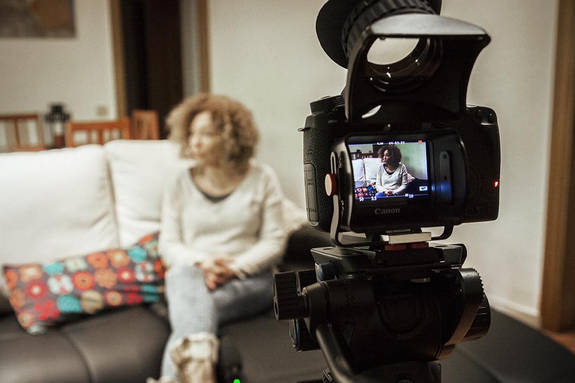 vídeo entrevista tripode