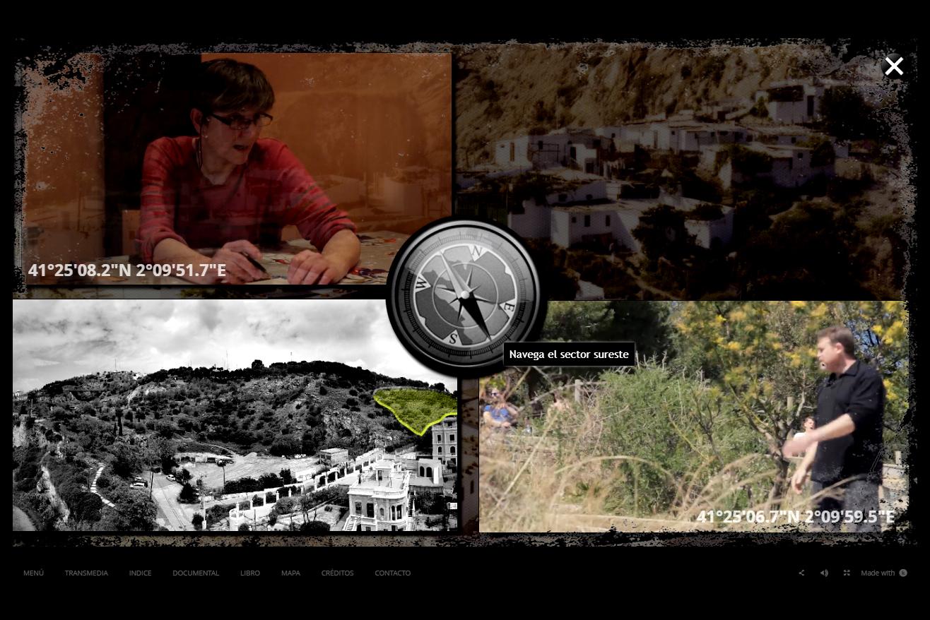 menu webdoc interactivo Barnacas